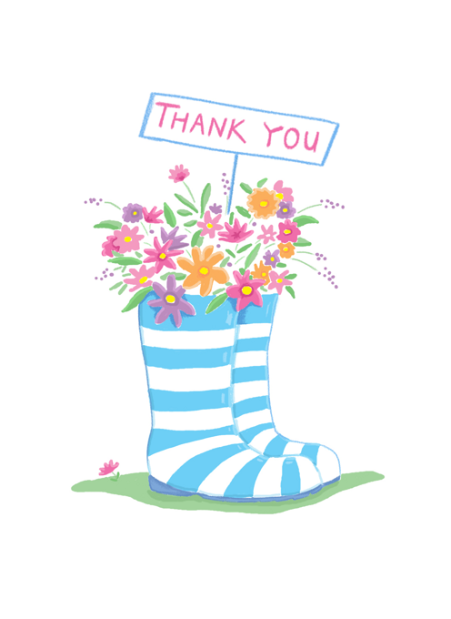 Thank You Floral Boots