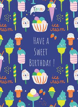 Ice Cream Birthday Card