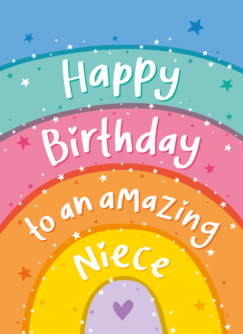 Amazing Niece Rainbow Birthday Card