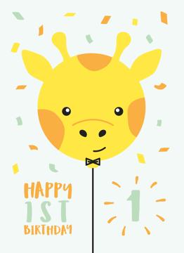 Giraffe First Birthday