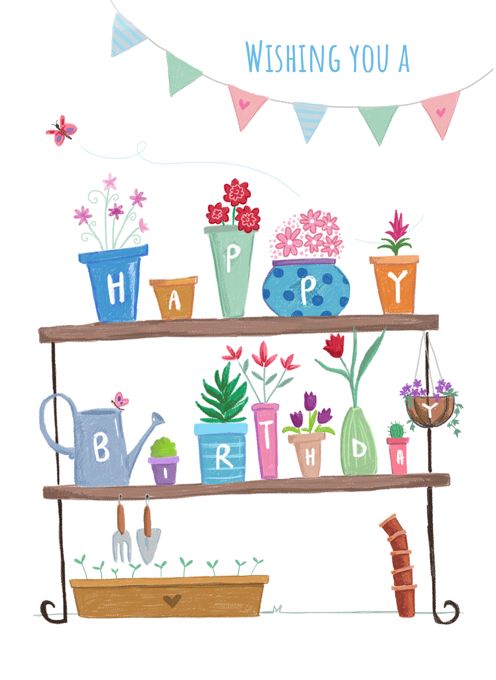 Birthday Plant and Flower Pots