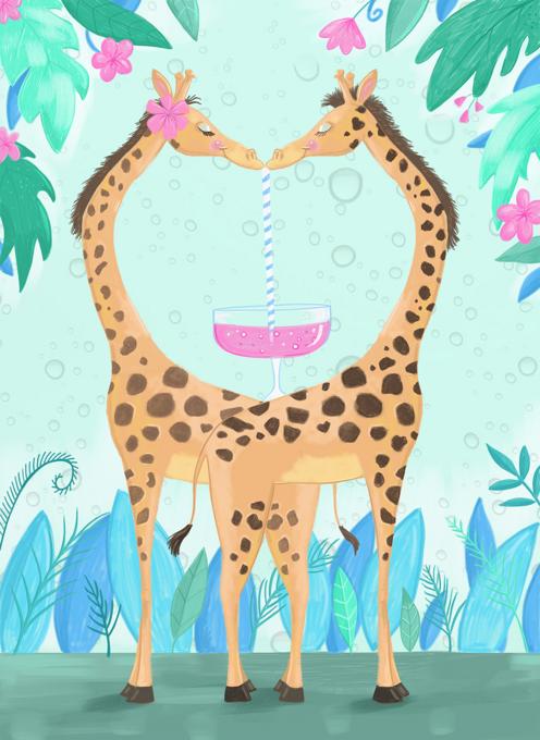 Pink Gin Giraffes