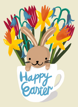 Happy Easter Bunny Cup