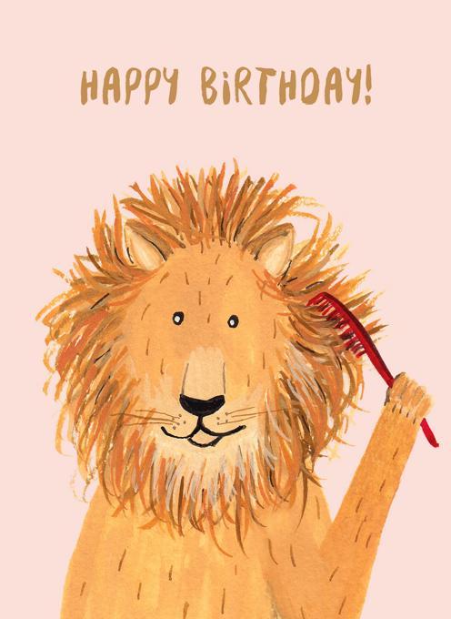 Birthday Lion - Happy Birthday!