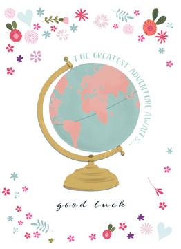 Vintage Globe Good Luck