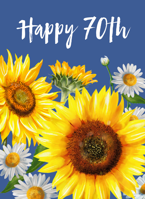 70th Birthday Sunflowers