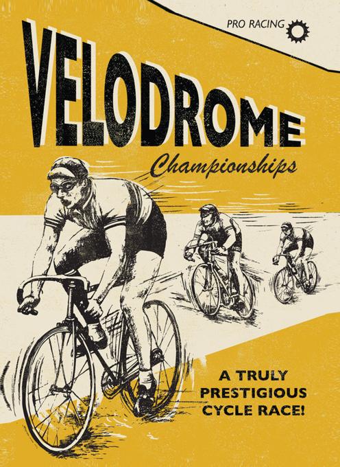 Velodrome Cycling Blank Card