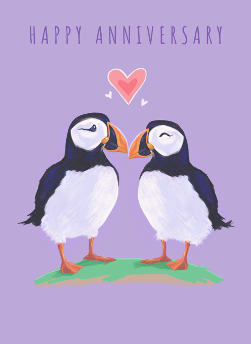 Anniversary Puffin Love