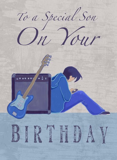 Son Birthday Guitar Amp Teen