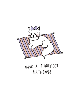 Have a PURRfect Birthday Cat