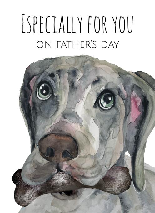 Weimaraner Father's Day Card