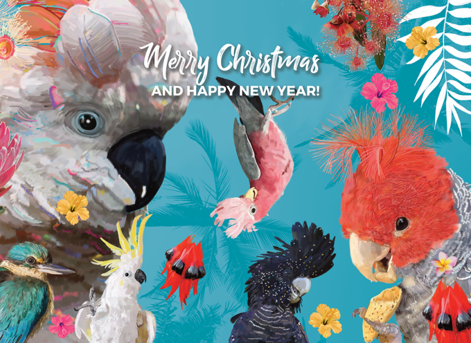 Christmas Birds - Christmas Card