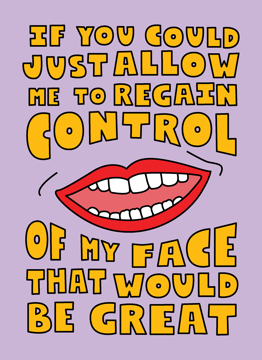 If You Could Allow Me To Regain Control