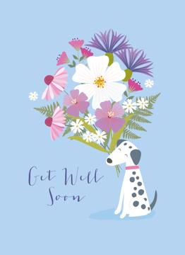 Get Well Soon Dalmatian