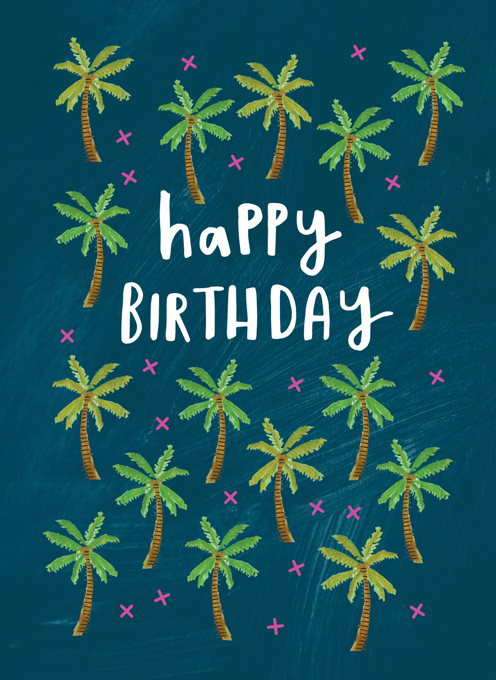 Palm Tree Happy Birthday