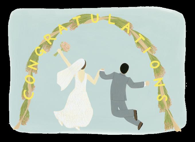 Wedding Arch Congratulations Card