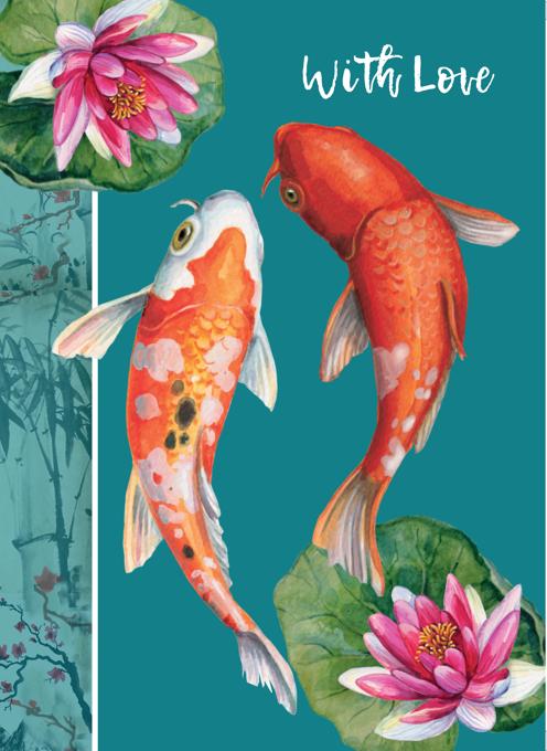 Koi Fish Decorative Occasion Card