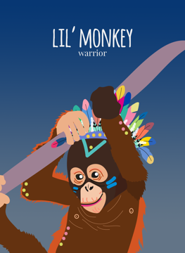 Lil' Monkey Warrior