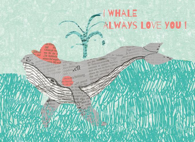 Whale Love Card