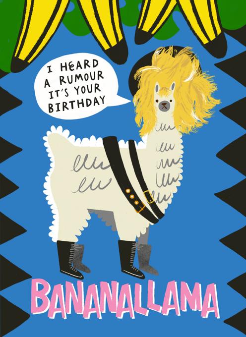 I Heard A Rumour It's Your Birthday: Banana Llama