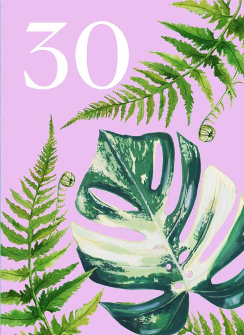 30th Birthday Houseplants Card