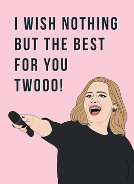 Adele Congratulations Card