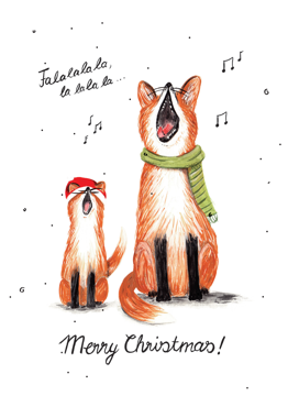 Singing Foxes - Merry Christmas!