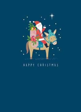Christmas Santa Donkey