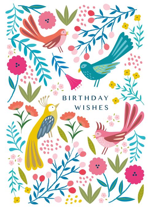 Colourful Boho Birds