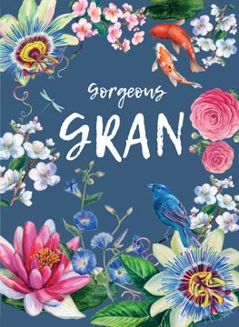 Gorgeous Gran Floral Decorative Ocassion card