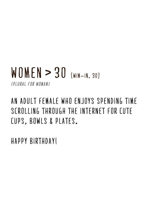 Women > 30
