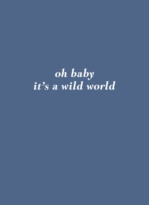 Oh Baby It's A Wild World