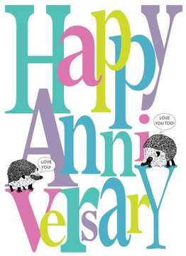 Happy Anniversary Hedgehog