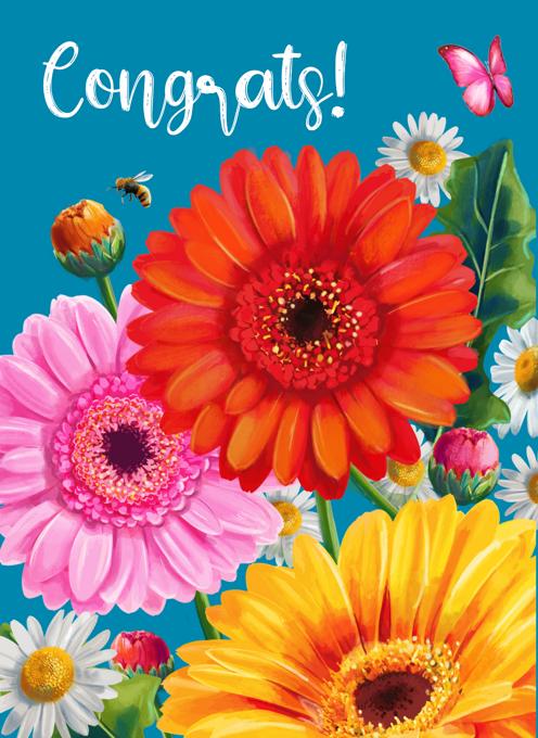 Congrats Flowers Card