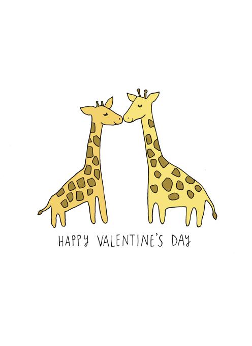 Happy Valentine's Day Giraffes