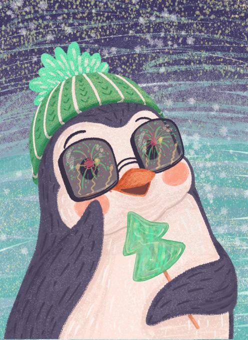 Penguin With Lollipop