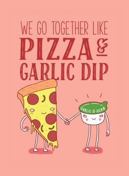 Pizza and Garlic Dip