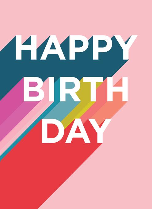 Happy Birthday Rainbow Type