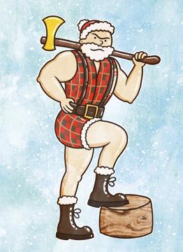 Lumberjack Santa