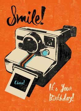 Smile Birthday Polaroid