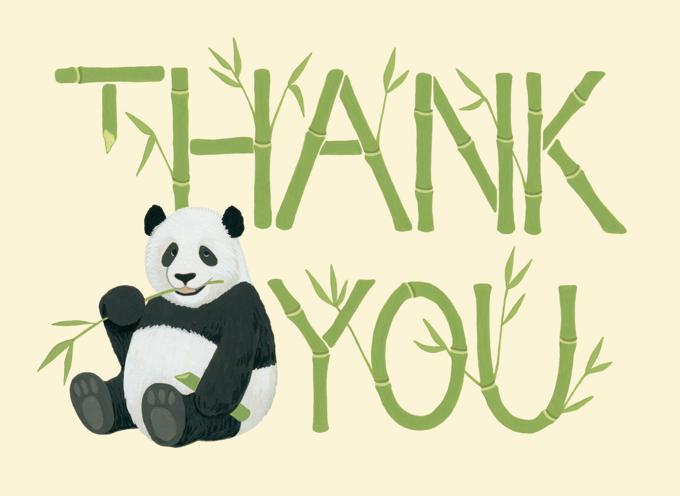 Bamboo Panda Thank You