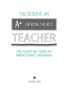 You Deserve An A+