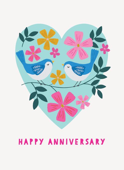 Happy Anniversary Love Birds