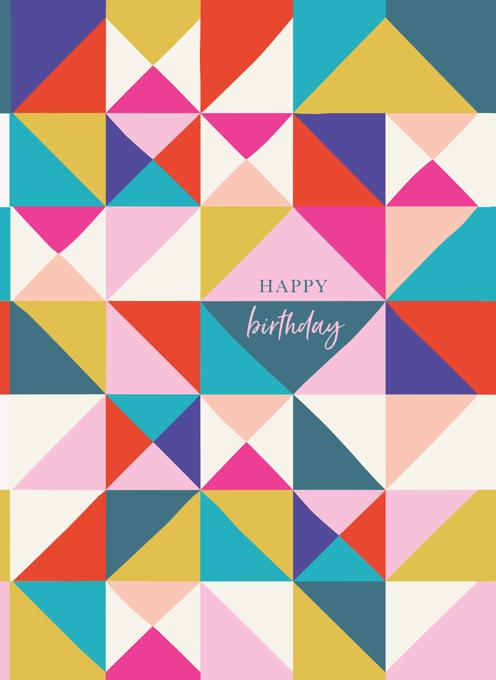 Bright Geo Birthday Card