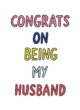 Congrats On Being My Husband