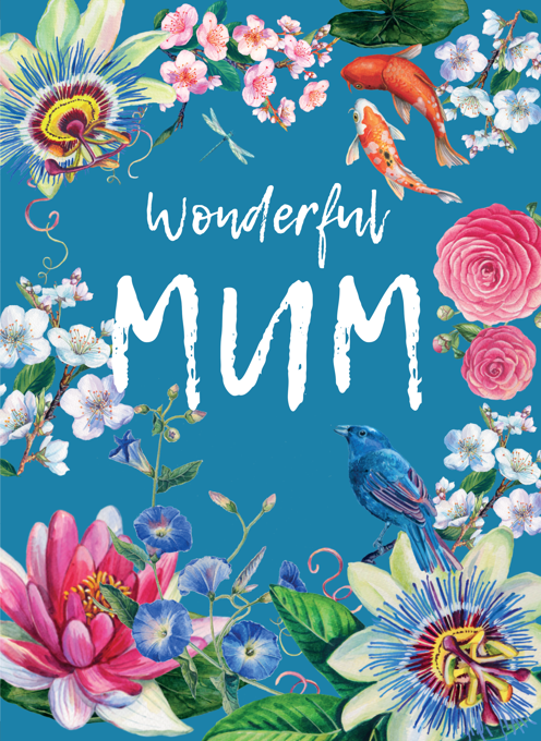 Wonderful Mum Floral Mothers Day Card