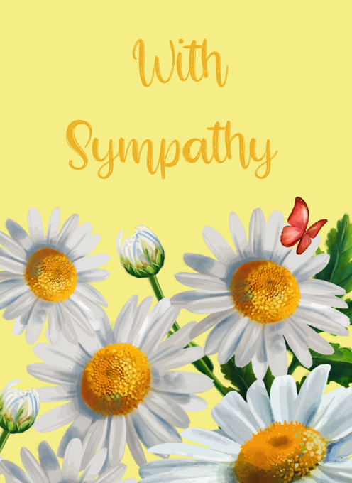 With Sympathy Flowers