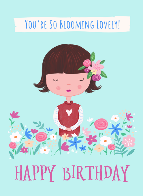 Birthday Blooming Lovely Girl