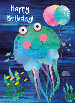 Jellyfish Happy Birthday