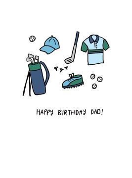 Golf Happy Birthday Dad